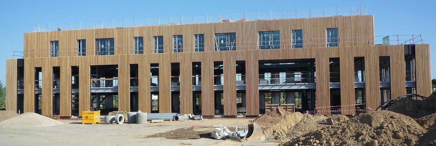 Immeuble de bureaux sedime for Immeuble bureaux structure bois