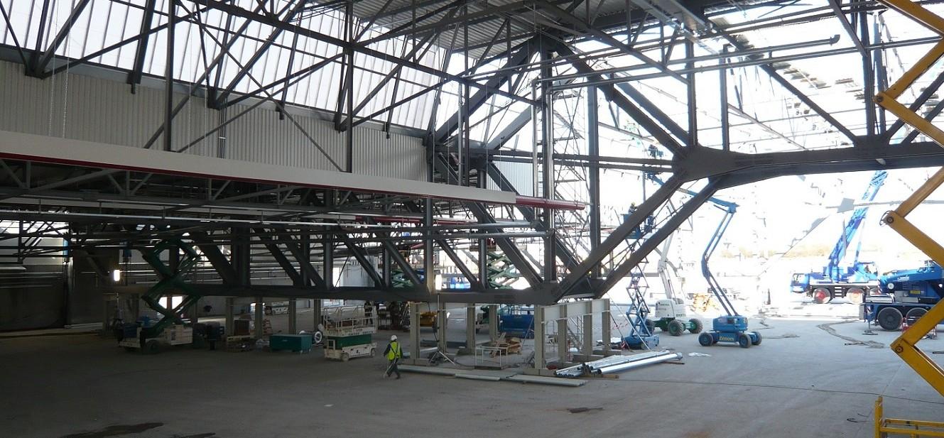 Hangar avions en structure m tallique sedime - Cout construction hangar ...