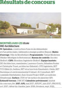 Article extrait du magasine LE MONITEUR