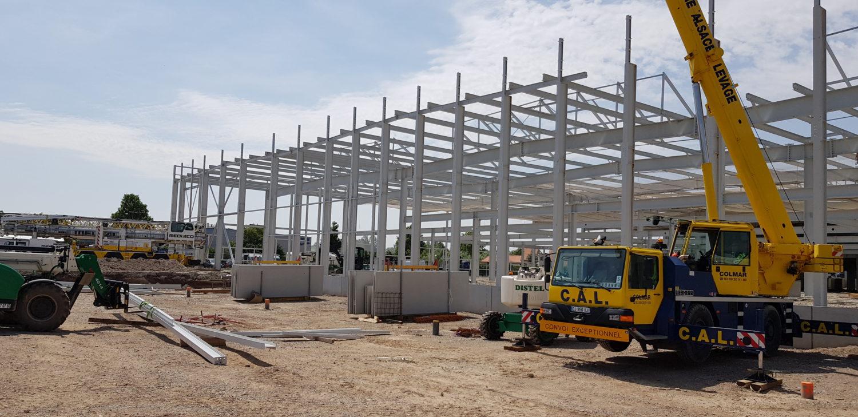 Construction d'un bâtiment industriel