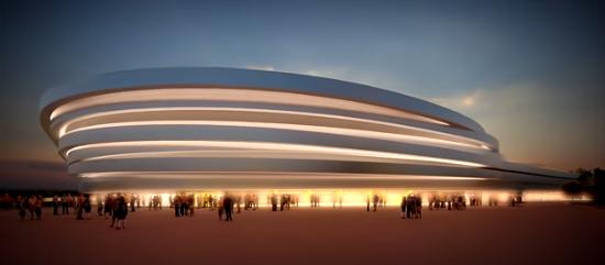Construction palais des sports ossature métallique