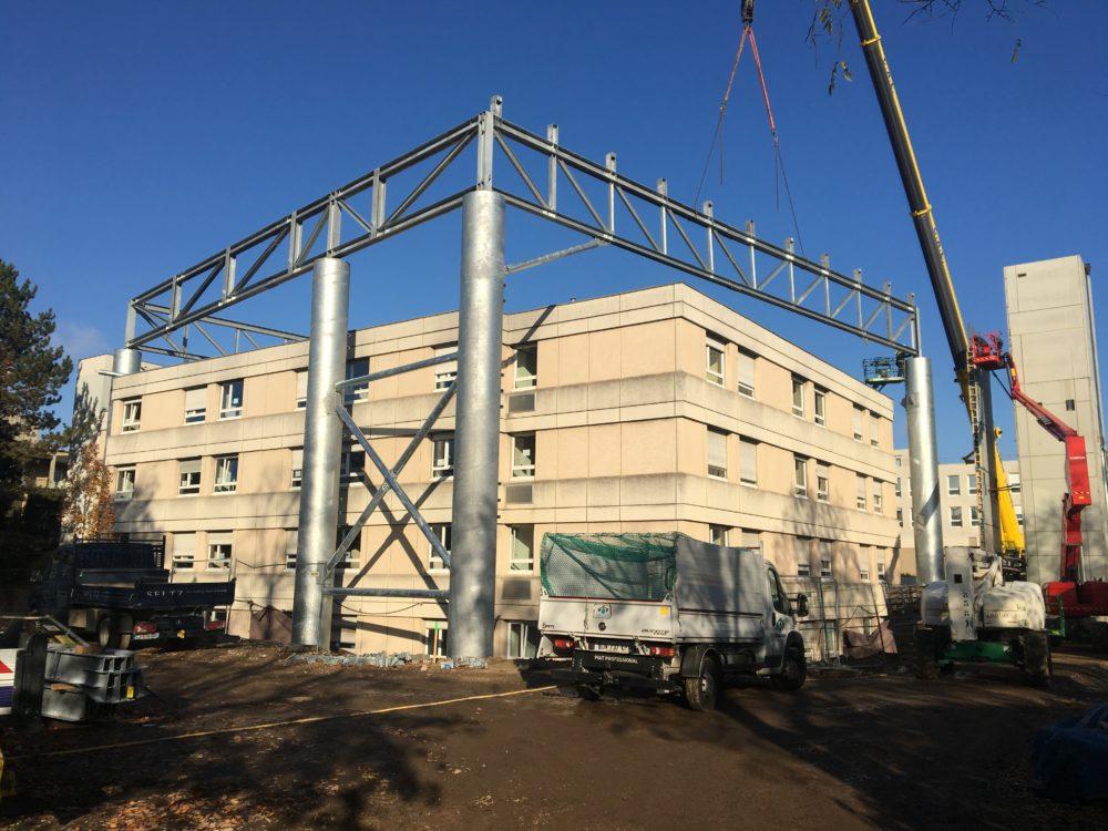 Construction hélistation