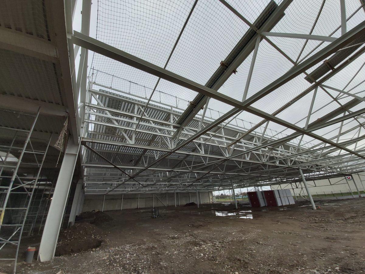 Construction d'un centre logistique